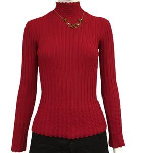 VEX Collection Red Size S Long Sleeve Sweater